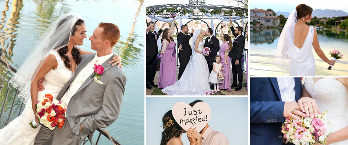 Las Vegas Wedding Venues - All Inclusive, Ceremony Only, Outdoor Lake Wedding and Traditional Chapel Ceremonies