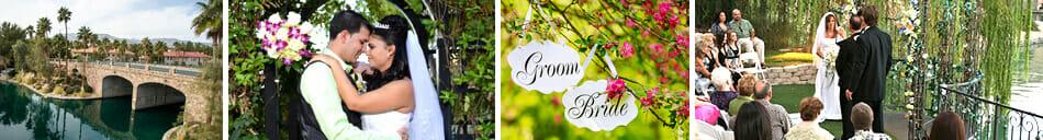 Las Vegas Wedding Venues - Outdoor Ceremonies with Beautiful Lake Views in a Garden Setting