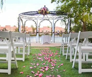 Swan Garden Ceremony Site - Las Vegas Wedding Venus